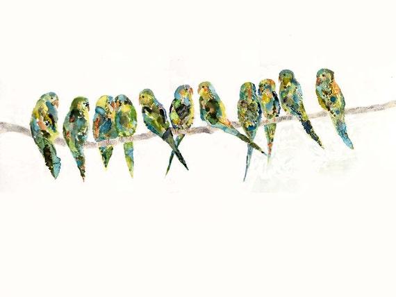 perch - original watercolor painting