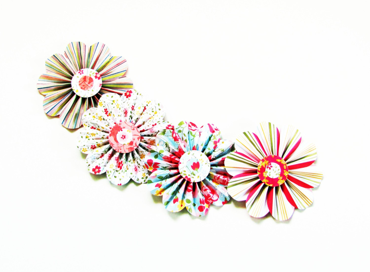 paper flower garland home and living wall decor by SheShell