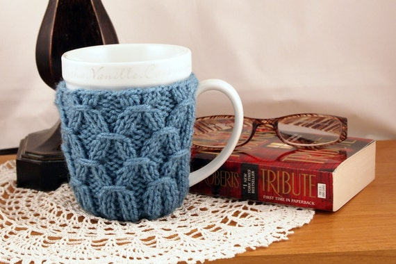knit coffee cosy