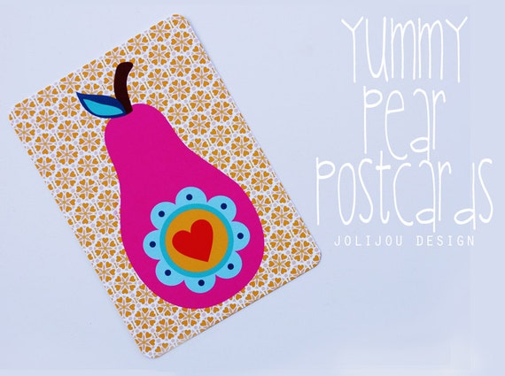 pear postcards by Jolijou