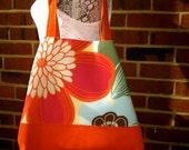 Big Beach Bag, Orange Floral, Summer Fashion