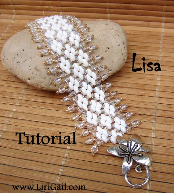 Lisa Superduo Beadwork Bracelet PDF Tutorial