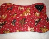 Reversible Cotton Quilted Dog Bone Placemat with Doberman Rotweiler Pit Bull A
