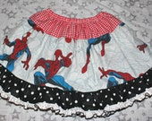 MIX-UP Twirl Skirt Pettiskirt OOAK - Spiderman - Girl's sz 4/5 - Ready to Ship