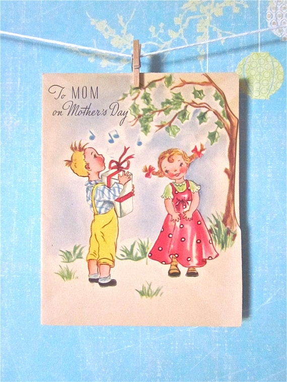 mothers day card vintage