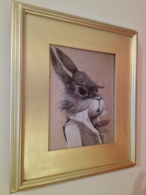Sherlock Rabbit art print
