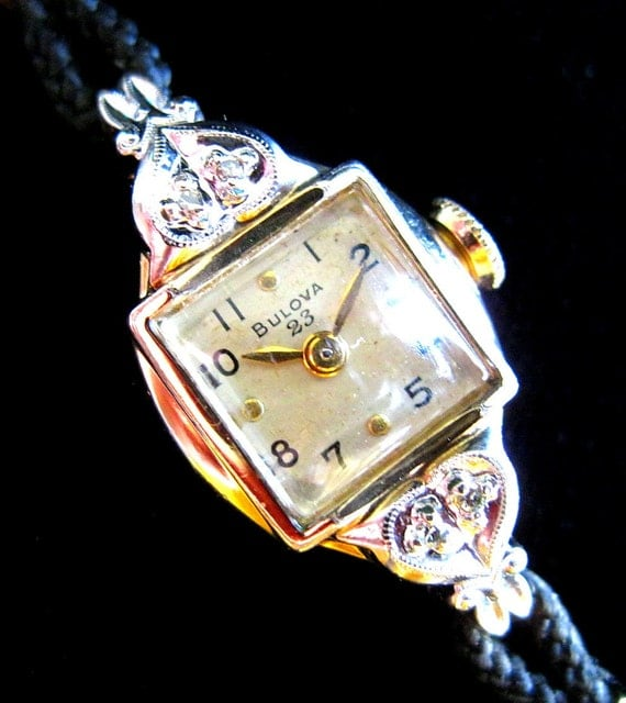 antique bulova watch on etsy wierclock
