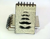 Mustache Line Up Spiral Bound Pocket Notebook - CreatingWithSticks