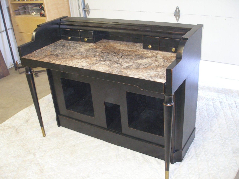 Repurposed Piano Upcycled 1959 Baldwin Organ Writing