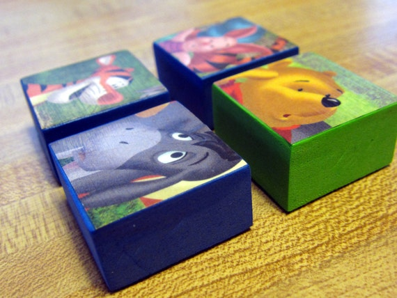 SALE // Winnie the Pooh Foam Magnets - Set of Four, Winnie, Eyore, Tigger and Piglet