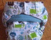 One Size Quick Drying AIO/AI2 Cloth Diaper in Ooga Booga