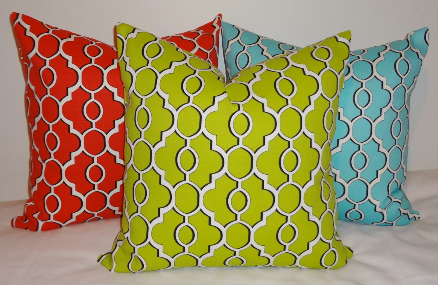 sale outdoor pillow cover lime green blue red by homeliving. Black Bedroom Furniture Sets. Home Design Ideas