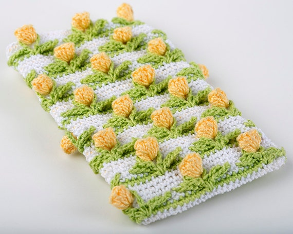 Crochet Pattern Tulip Field Baby Blanket PDF Instant Download