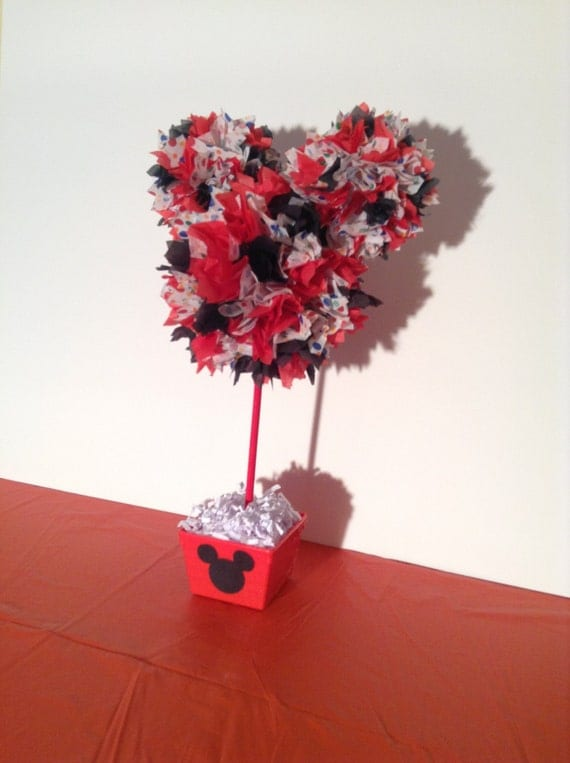 Mickey Mouse birthday decoration, Mickey Mouse centerpiece