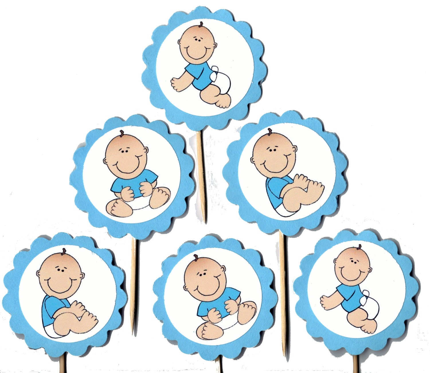 Baby Cupcake Toppers Set Of 24 Gold Glitter Oh Baby Cake