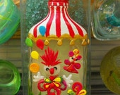 Circus Clowns Upcycled Bottle - artsyviolet