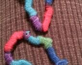 Yarn Wrapped Wood Africa Earrings