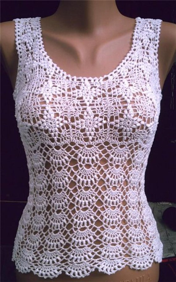 Crochet Top Pattern : crochet summer top pattern pdf and made to order