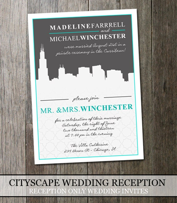 Party After Destination Wedding Invitation Wording Recept