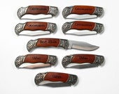 Groomsman Gifts for Groomsmen, Best Man Gift, Set of 8 Rosewood Pocket Knives, Wedding Favor, Engraved Personalized Keepsake, groomsmen gift