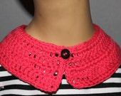 Hot Pink Crocheted Collar