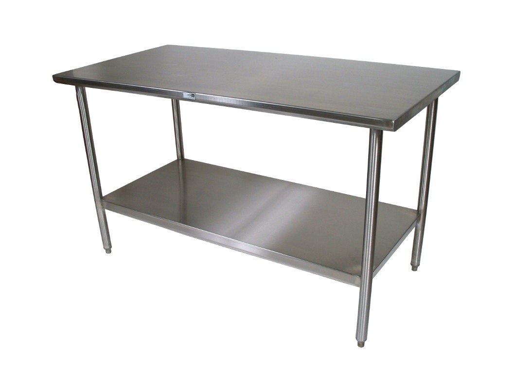 Stainless steel kitchen island afreakatheart - Steel kitchen tables ...