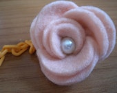 Brooch Baby Pacifier Clip Somon Felt  Flower