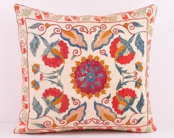 Popular items for embroidered pillow on Etsy