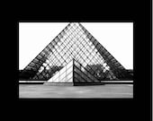 Louvre Pyramid in Black and White - PetitePastiche