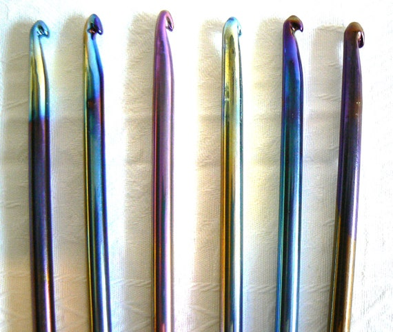 Crocheting Needles : Review of Titanium Rainbow Crochet Hook ~ Crochet Addict CFS