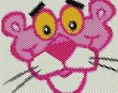 Pink Panther Peyote Stitch Bracelet Pattern