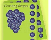 Homework. How to learn easy maths. Counting grapes. Set of 4 printable digital images.