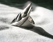 Palladium Rhodium Silver Sanding Ring