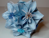 Small Kusudama Flower Ball Ornament (Snowflakes V5)