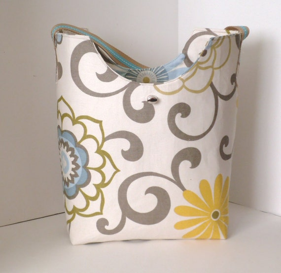 Market Bag Tote Bag Summer Beach Bag or even Diaper Bag