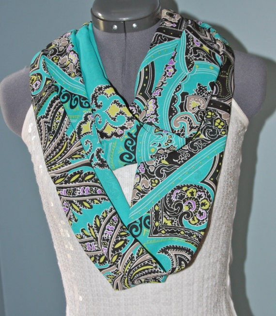 Mother's Day Emerald Chiffon Infinity Scarf