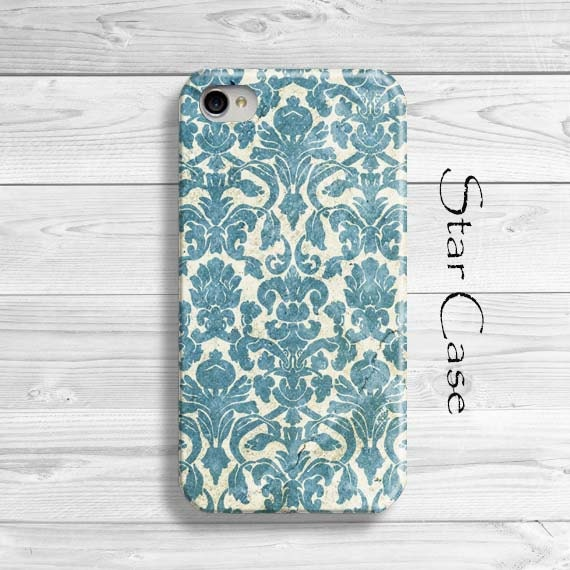 iPhone 4/ 4s and 5 Case - Vintage Damask - Retro Cell Phone Cover - iPhone Hard Case- Old Damask Floral Lace Pretty