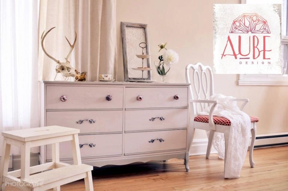 Peinture la craie blogue cr ations aube design - Peinture a la craie pour meuble ...