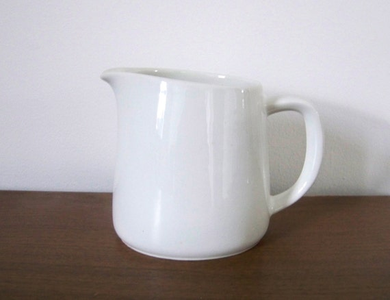 Vintage White Porcelain Pitcher