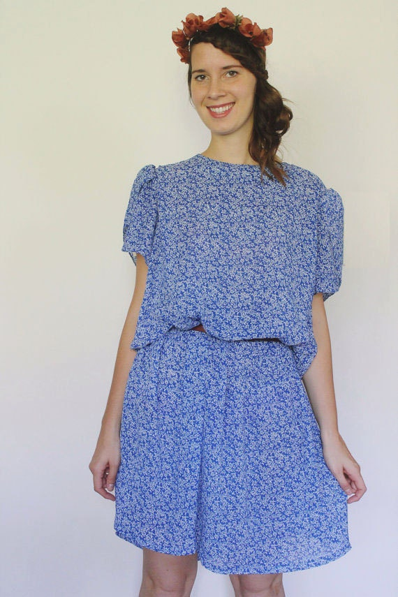 Vintage 1960's China Blue Dress