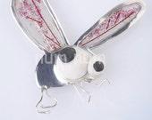 sterling silver 925 big fly brooch