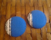 Extra Large Button Earrings-Dope Denim