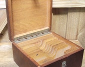 Old Wood Stereo View Card File Box