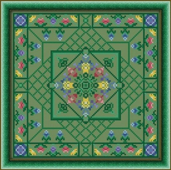 Summer Meadow Cross Stitch Pattern Digital Download