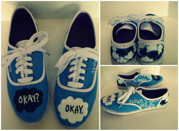 The Fault in Our Stars Custom Hand Painted Shoes