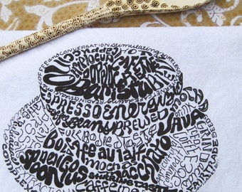 Popular items for coffee word art on Etsy