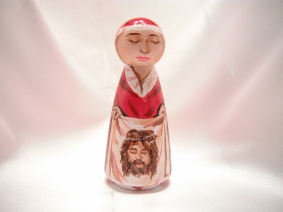 Saint Veronica of the Holy Face - Catholic Saint Doll - made to order