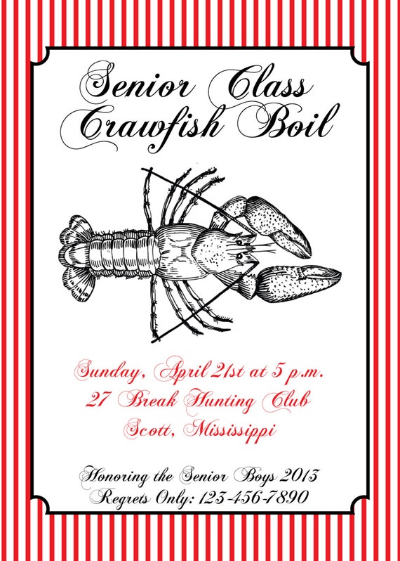 Crawfish Boil Invite- Print your own