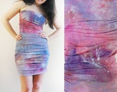 Galaxy - hand dyed mini dress/murMur