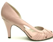 Mauve Peep Toe Pumps - shopstillill